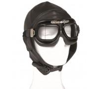 Шлем летный кожаный, Mil-tec, черный.