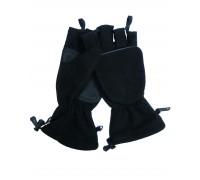 Милтек перчатки беспалые с клапаном флис черные