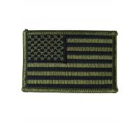 Милтек США флаг нарукавный олива