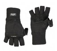 Милтек перчатки беспалые с клапаном вязаные черные