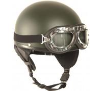 """Шлем """"HALBSCHALE"""" с защитными очками, Mil-tec, олива."""
