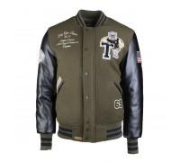 Бейсбольная куртка top gun 'league' олив / черный