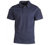 Рубашка-поло с короткими рукавами (темно-синяя)