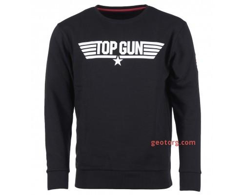 Толстовка с принтом 'top gun' черная