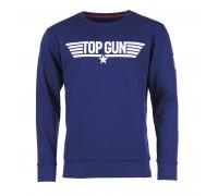 Толстовка с принтом 'top gun' темно-синяя