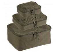 Набор из 3 сумок с сеткой (оливковая)