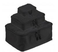 Набор из 3 сумок с сеткой (черный)