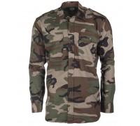 Рубашка армейская форменная, Mil-tec, вудланд.