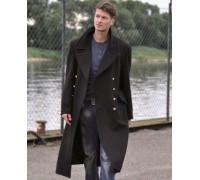 Немецкое шерстяное пальто (темно-синее)