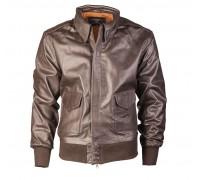 """Кожаная куртка летчика """"A2"""" коричневая"""
