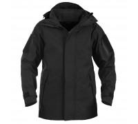 Куртка для влажной погоды с флисовой подкладкой (черная)