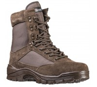 Коричневые тактические ботинки с молнией YKK