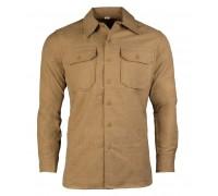 "Коричневая шерстяная рубашка ""US M37"" (Реплика)"