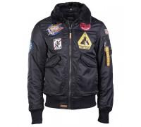 """Летная куртка """"air force"""" черная"""