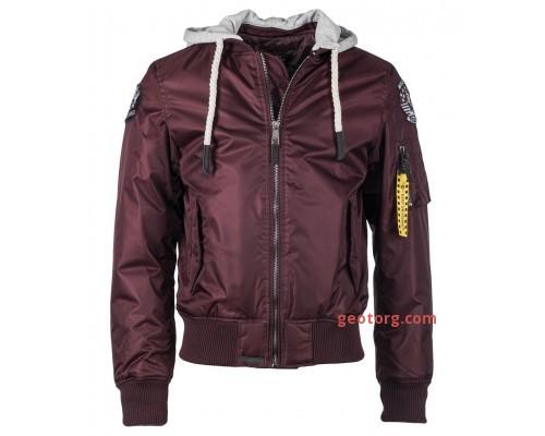 Куртка летная ′seabees′ от Top Gun (бордовая)