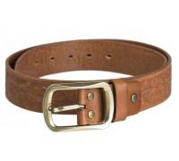Ремень Western кожаный коричневый