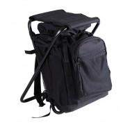 Черный рюкзак со стулом