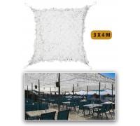 Маскировочные сетка ′SHADE SAIL′ 3 на 4 метра белая