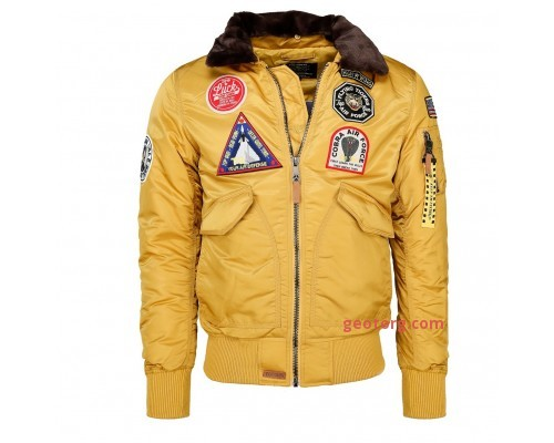 """Летная куртка """"flying tigers"""" желтая"""