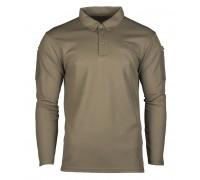 """Рубашка поло с длинным рукавом """"QUICK DRY"""" олив"""