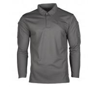 """Рубашка поло с длинным рукавом """"QUICK DRY"""" urban grey"""