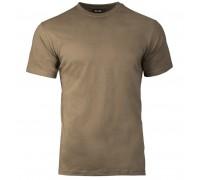 "Коричневая футболка ""US STYLE"" из хлопка"