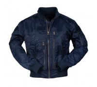 Тактическая летная куртка США от Mil-tec (темно-синяя)