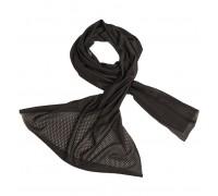 Сетчатый шарф черный