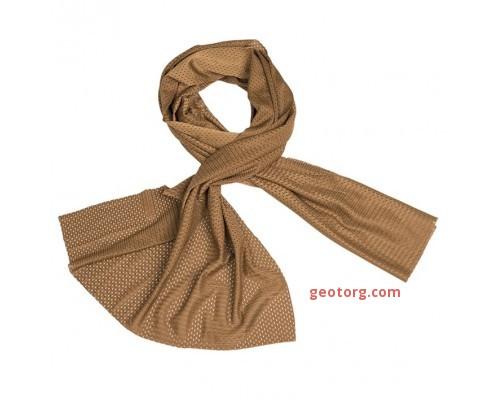 Сетчатый шарф тёмный Койот