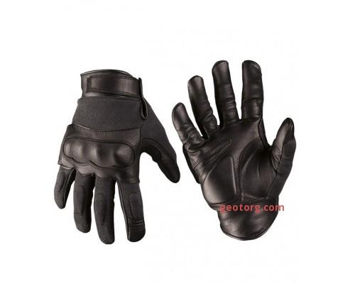 Тактические перчатки с кевларовыми вставкам черные
