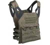 Разгрузочный жилет с карманами для бронепластин олива