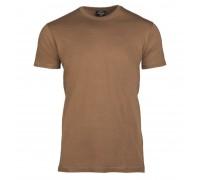Милтек футболка 100% коттон коричневая.