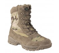 Милтек ботинки тактические с молнией Multicam.