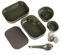 Милтек Швед. столовый набор (7 элементов) оливковый