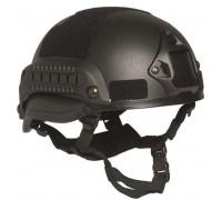 Шлем боевой MICH 2002, Mil-tec, черный.