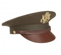 Фуражка офицера США с эмблемой, олива (Реплика)