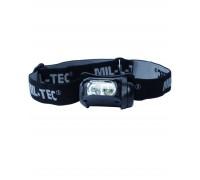 Фонарь налобный LED 4, Mil-tec, черный.