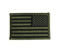 Милтек США флаг нарукавный реверс олива
