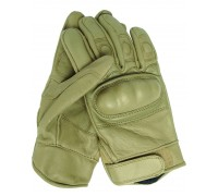 Милтек перчатки тактические кожа койот