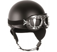 """Шлем """"HALBSCHALE"""" с защитными очками, Mil-tec, черный."""