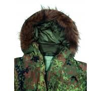 Меховой воротник для куртки, Mil-tec, олива