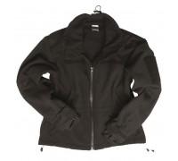 Милтек куртка флис ветрозащитная черная