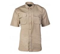Милтек рубашка тропическая кор. рукав хаки.
