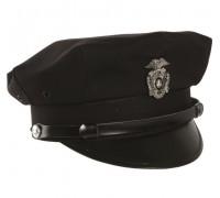 Фуражка полицейского США черная