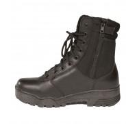 Ботинки тактические кожа/кордура,Thinsulate ®, на молнии, Mil-tec, черные.