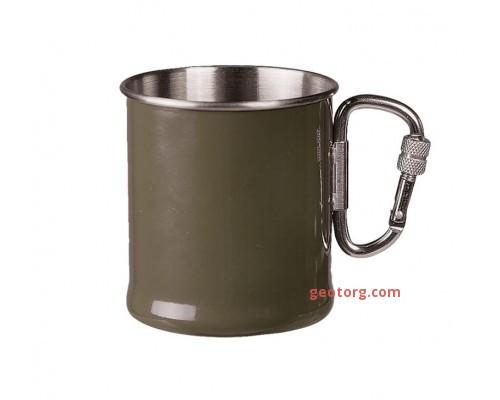 Кружка с карабином 250мл (оливковая)