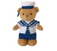 Милтек медвежонок плюшевый в костюме моряка (20 см)