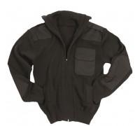 Милтек свитер на молнии черный.
