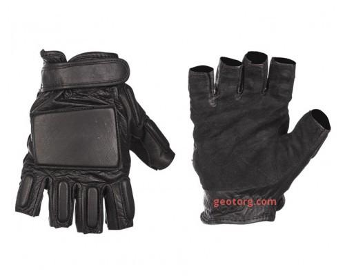 Кожаные тактические беспалые перчатки