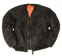 Куртка Пилот МА1, Mil-tec, черная